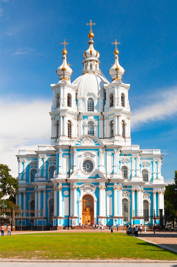Download Smolny cathedral stock photo. Image of architecture, historic - 20841702