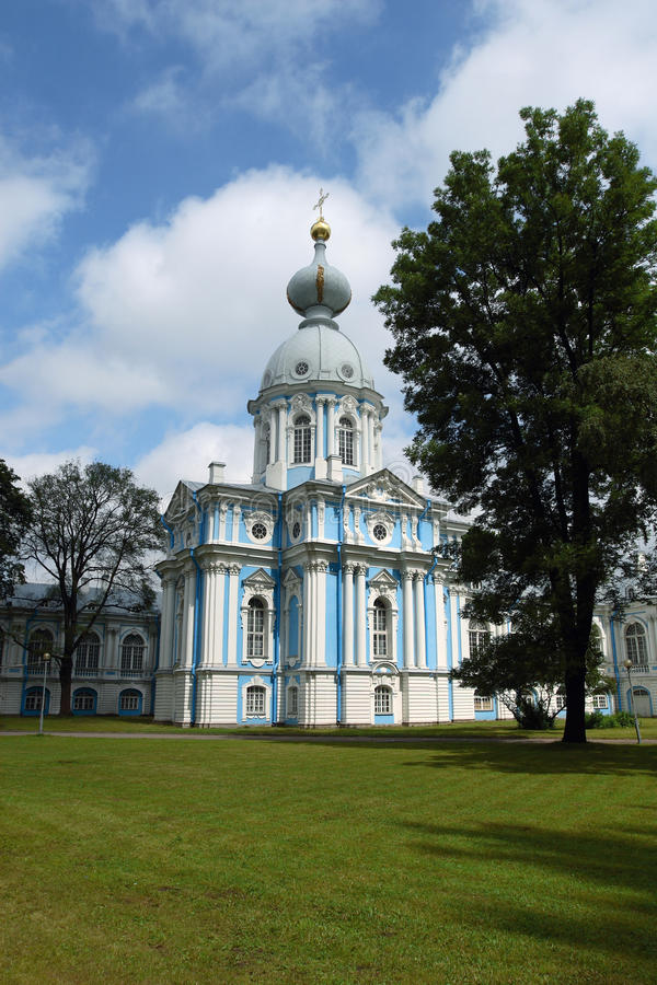 Smolny cathedral, Russia royalty free stock photography