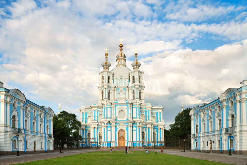Smolny cathedral in Saint-Petersburg royalty free stock photos