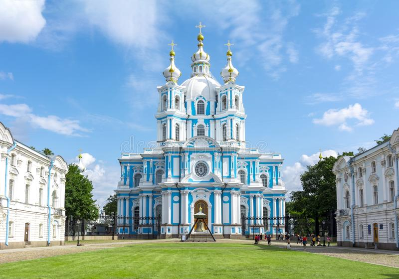 Smolny Cathedral, Saint Petersburg, Russia royalty free stock images