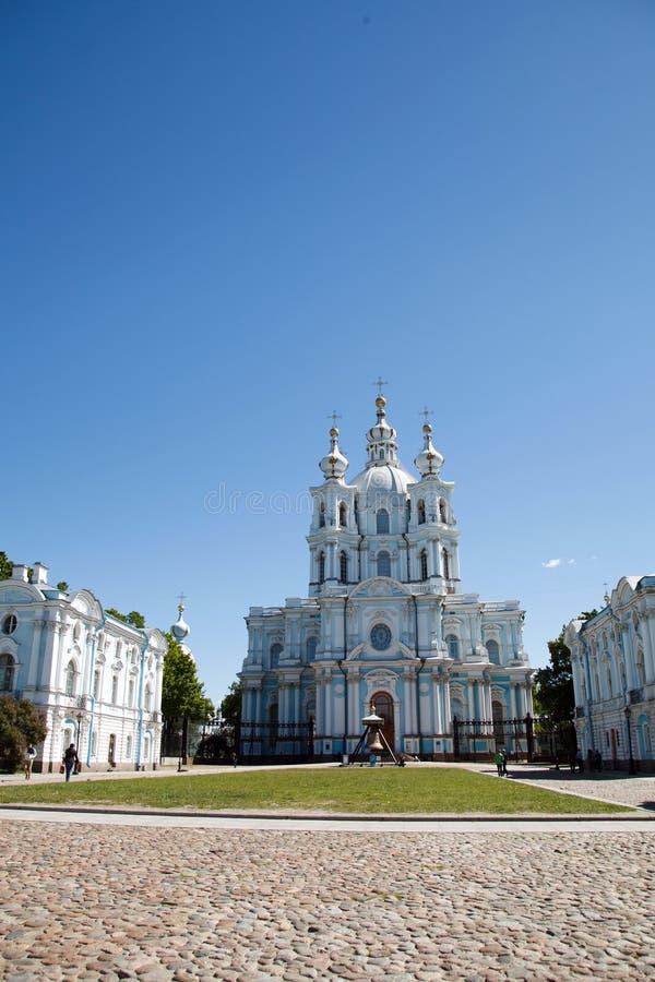 Smolny domkyrka, St Petersburg, Ryssland royaltyfri foto