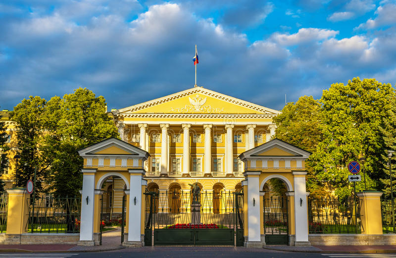 Smolny Institute, Palladian gmach w St Petersburg obrazy royalty free