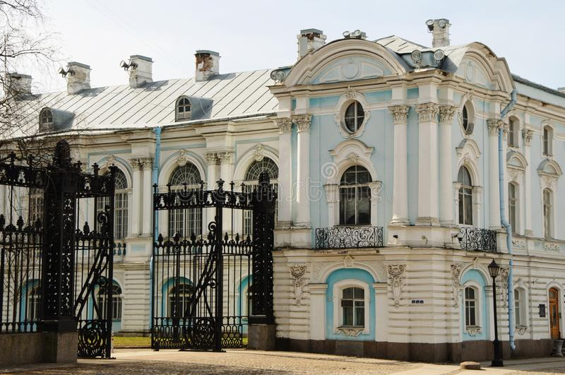 Smolny Institute in Saint Petersburg, Russia royalty free stock images