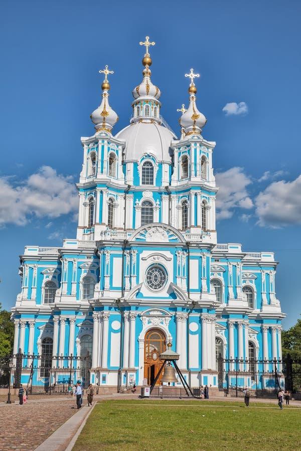 Smolny katedra - Ortodoksalny kościół Smolny klasztor, St Pe zdjęcie royalty free
