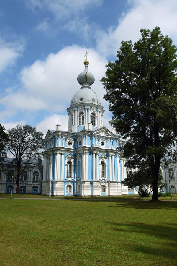 Smolny Kathedrale, Russland lizenzfreie stockfotografie
