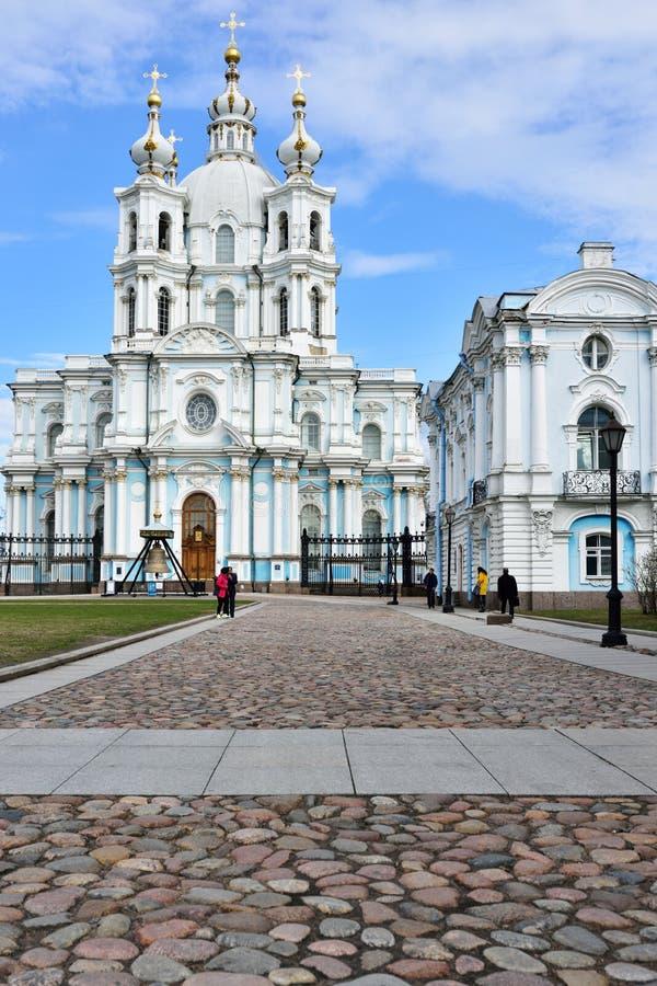 Smolnyklooster van de Verrijzenis in St. Petersburg, Rusland royalty-vrije stock foto's