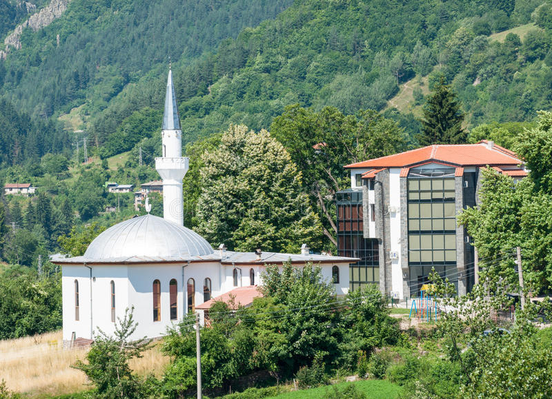 Smolyan Muslim Mosque in Bulgaria stock images
