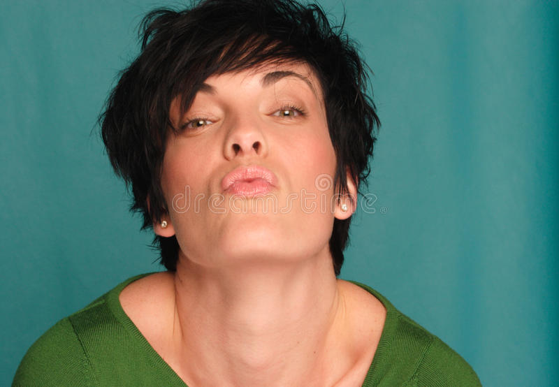 Download Smooch stock image. Image of expression, woman, caucasian - 20058829