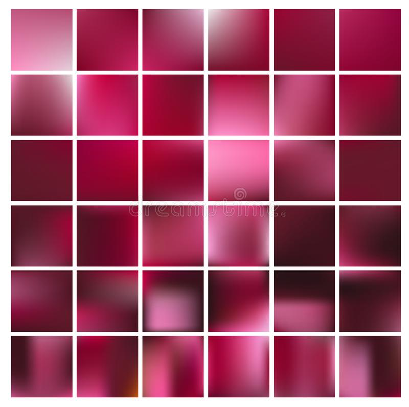 Smooth abstract colorful backgrounds set - eps10 stock images