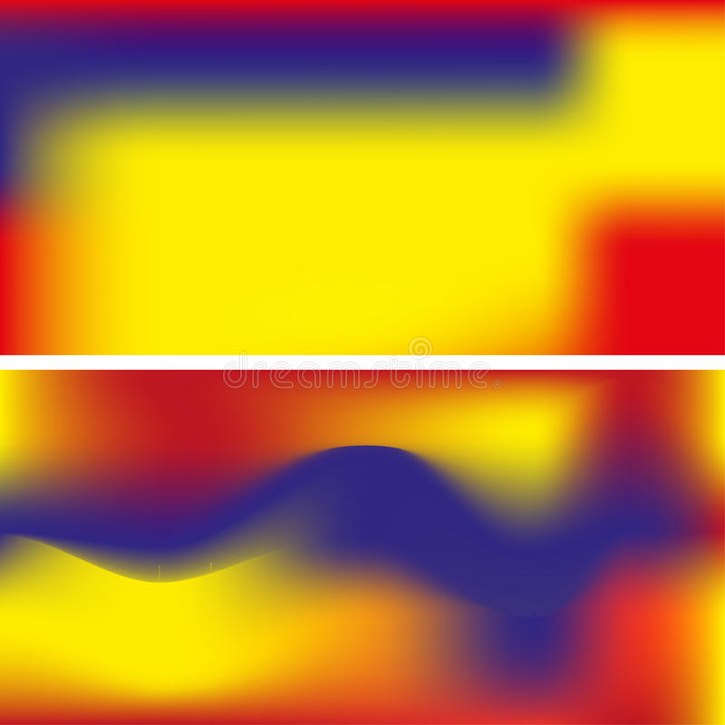 Smooth abstract colorful backgrounds set - eps10 stock photography