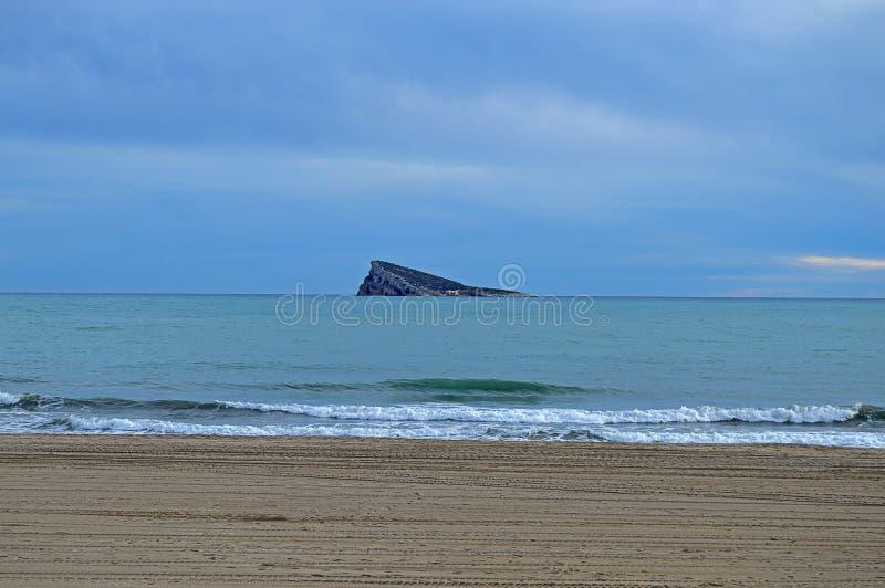 Benidorm Smooth Beach And Sea royalty free stock photo