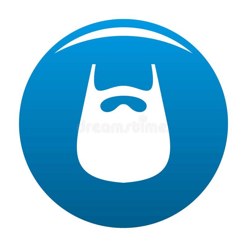 Smooth beard icon blue. Circle isolated on white background stock illustration