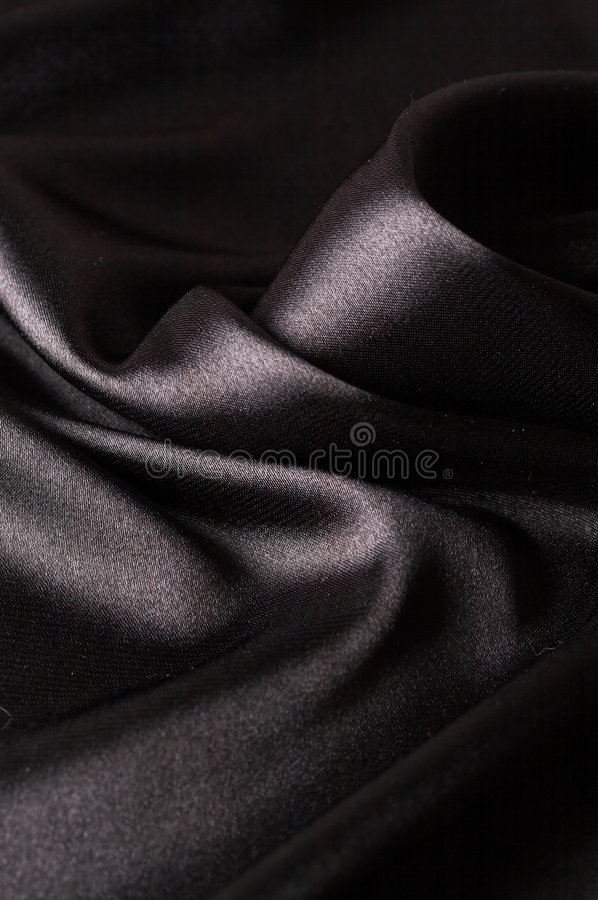 Smooth black satin stock images