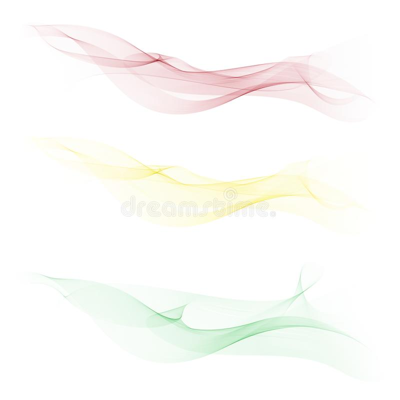 Smooth,clear,beautiful waves set.Wave abstract background. stock illustration