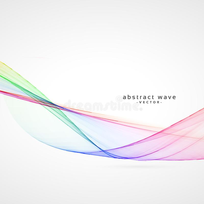 Smooth colorful abstract wave vector background stock illustration
