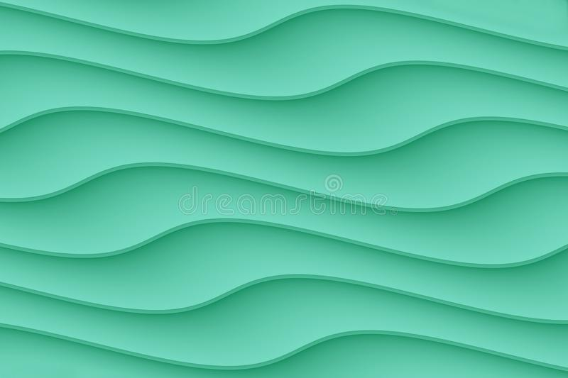 Smooth contoured curvy wave  lines abstract wallpaper background. Computer generated abstract wallpaper background featuring a pattern of smooth horizontal curvy vector illustration