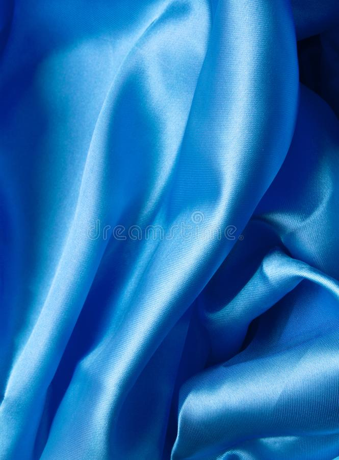 Smooth elegant blue silk can use as royalty free stock photo