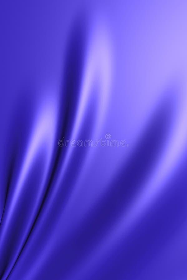 Smooth elegant blue silk fabric royalty free illustration