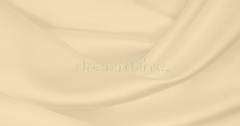 Smooth elegant golden silk or satin luxury cloth texture as wedding background. Luxurious Christmas background or New Year. Smooth elegant golden silk or satin stock photo