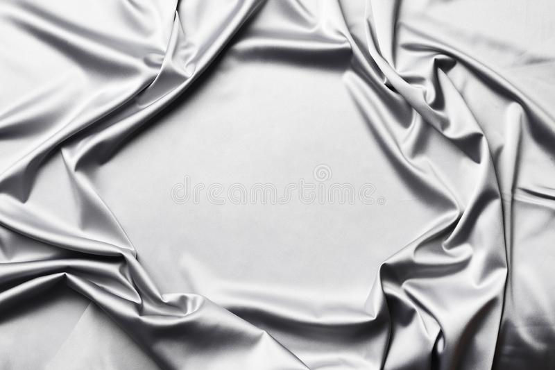 Smooth elegant  grey silk or satin texture can use as abstract background stock image