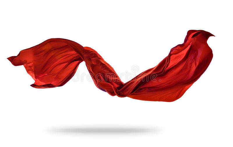 Smooth elegant red cloth on white background royalty free stock images