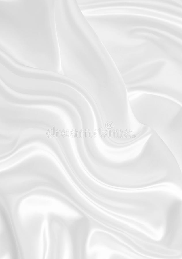 Smooth elegant white silk. Can use as background royalty free illustration