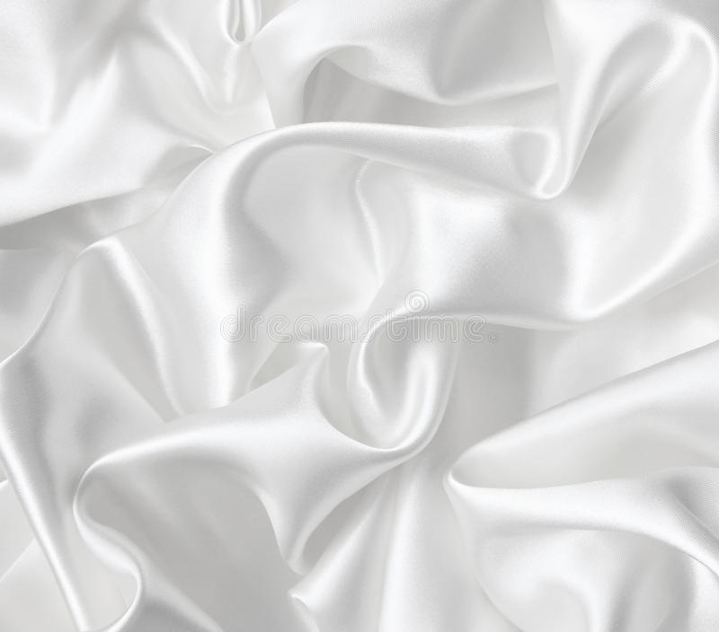 Smooth Elegant White Silk As Wedding Background Royalty Free Stock Images