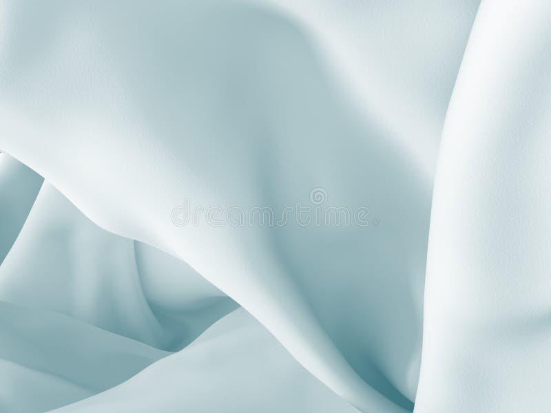 Smooth elegant white silk cloth abstract background. 3d render illustration vector illustration
