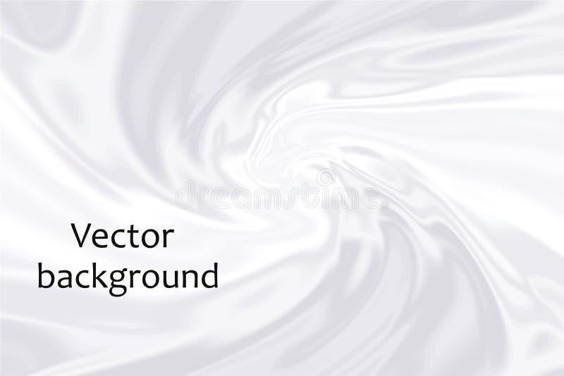 Smooth elegant white silk fabric background. Soft textile texture. Vector illustration.  royalty free illustration