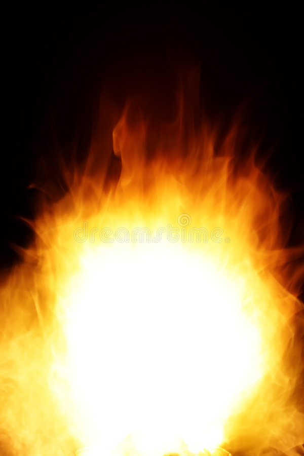 Smooth fire stock photo