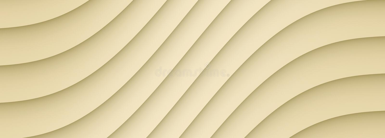 Smooth flowing ivory beige symmetric diagonal curves lines abstract color background. Computer generated abstract color background illustration in a neutral royalty free illustration