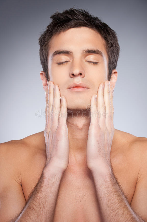 Smooth and healthy skin. stock photo