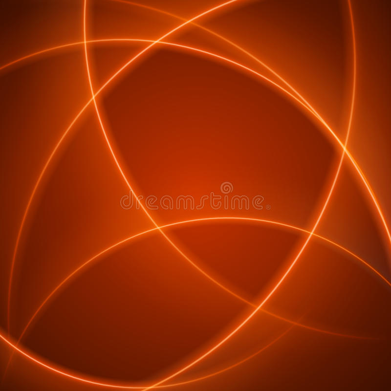 Smooth light orange waves lines abstract background. Good for promotion materials, brochures, banners. Abstract Backdrop, Technology Background. Glowing royalty free illustration