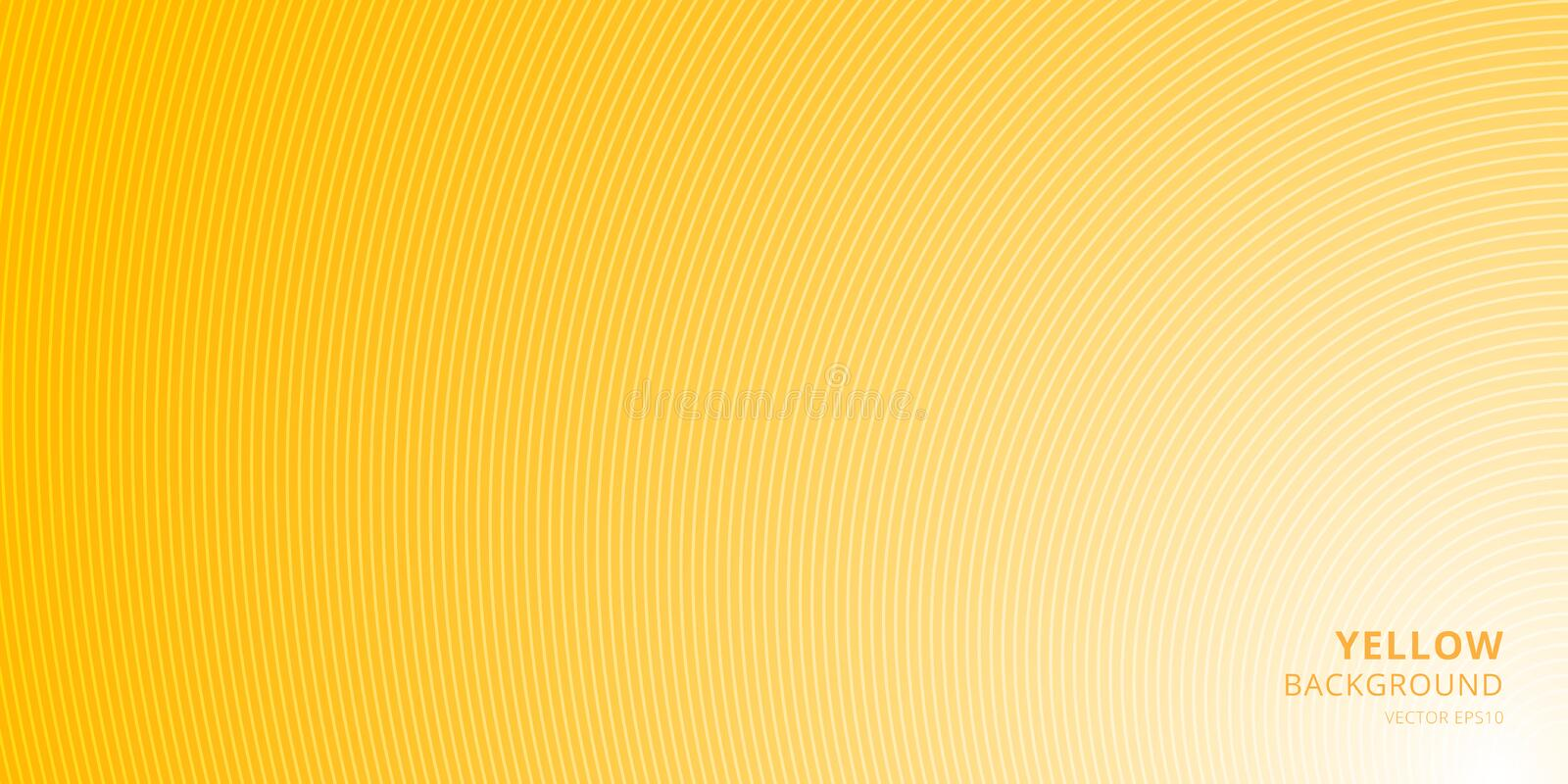 Smooth light yellow background with curved lines pattern texture with place for text. You can use cover brochure, card, banner web vector illustration