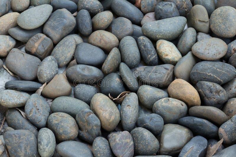 Smooth polished stones stock photo