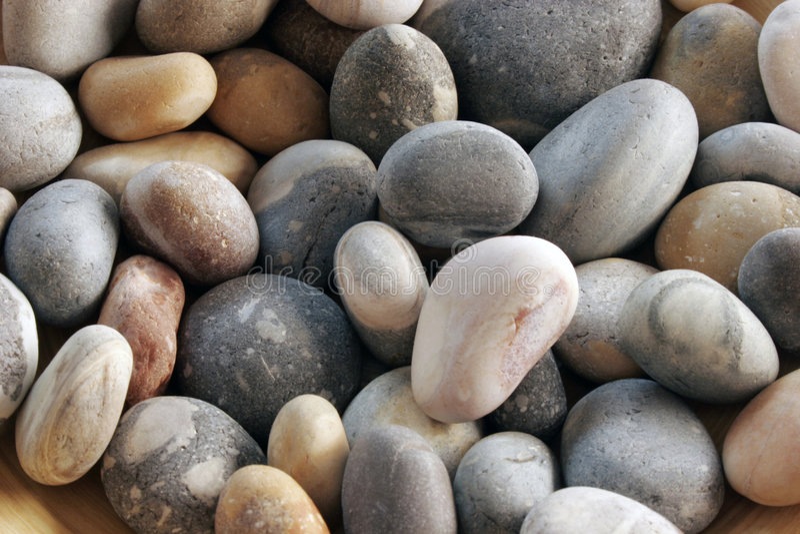 Smooth stones stock image