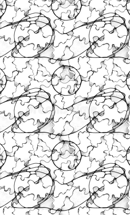 Smooth Transition Repeating Pattern vector illustration