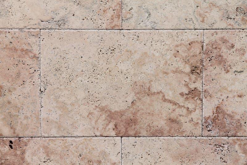 Smooth travertine surface stock image