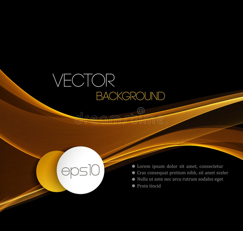 Smooth wave stream line abstract header layout. Gold Smooth wave stream line abstract header layout. Vector illustration royalty free illustration
