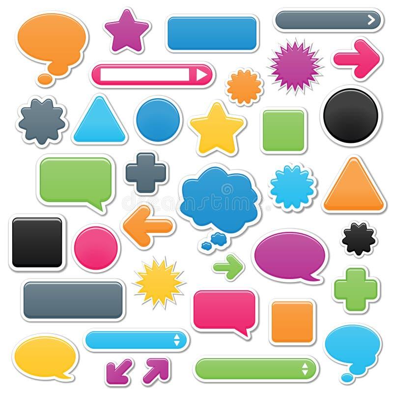 Smooth Web Elements stock illustration