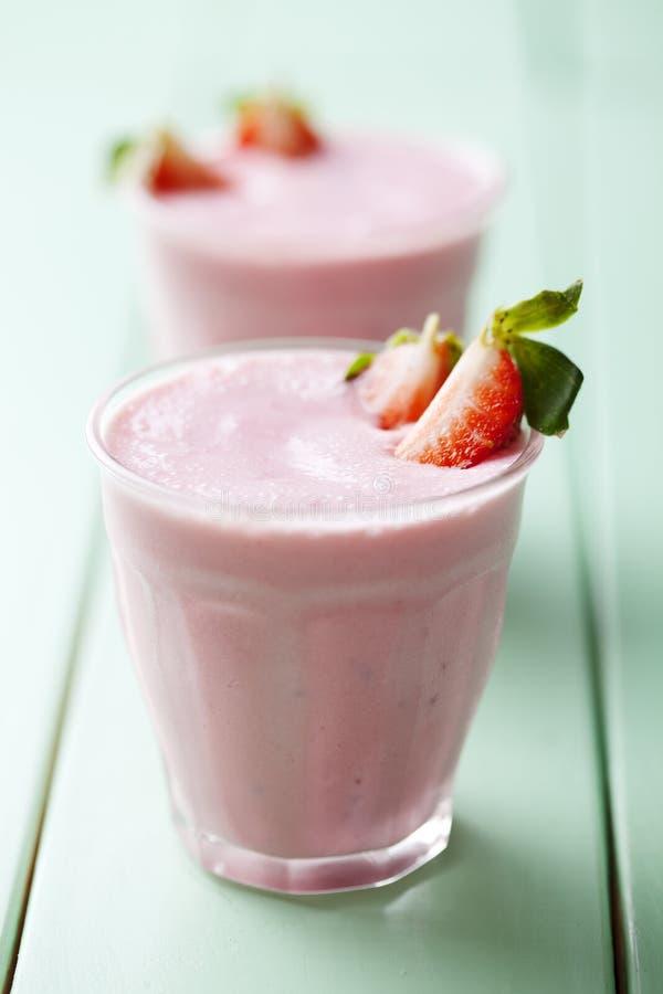 Smoothe de fraise image libre de droits