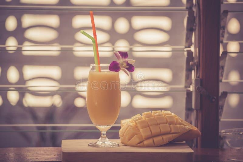 Smoothie манго стоковое фото