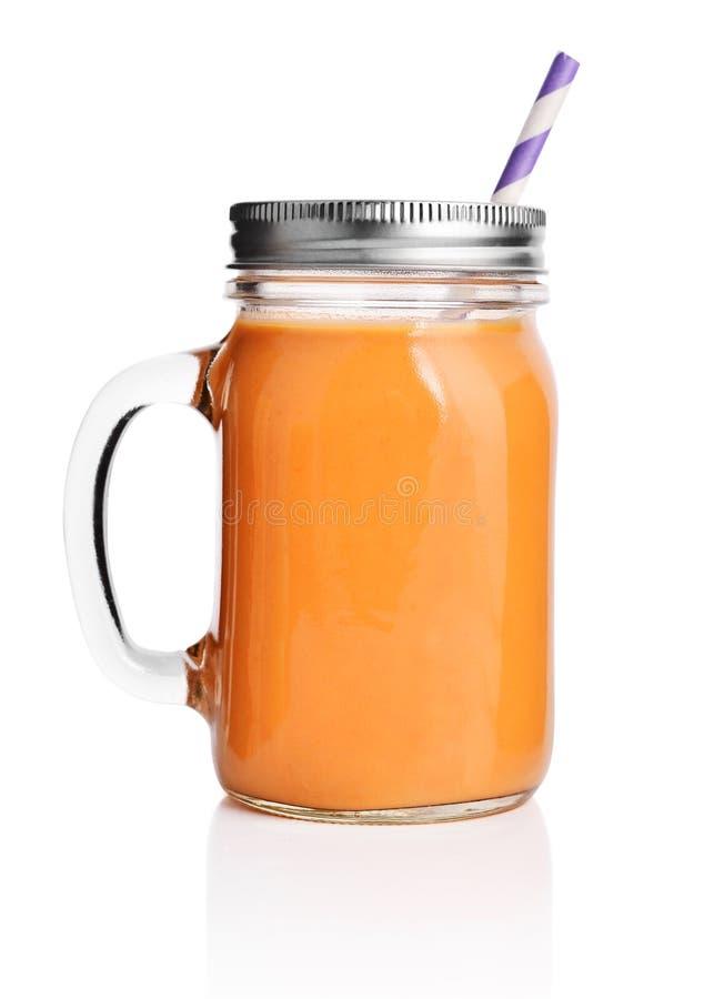 Smoothie anaranjado sano fotografía de archivo