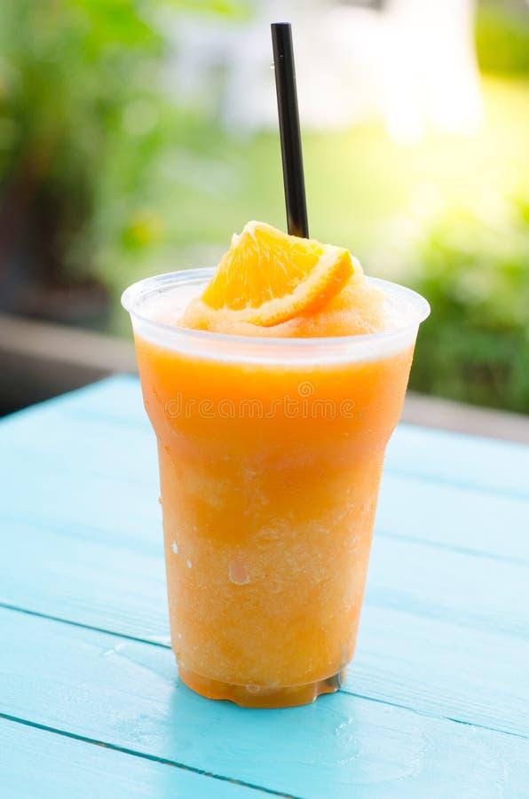 Smoothie arancione fotografia stock