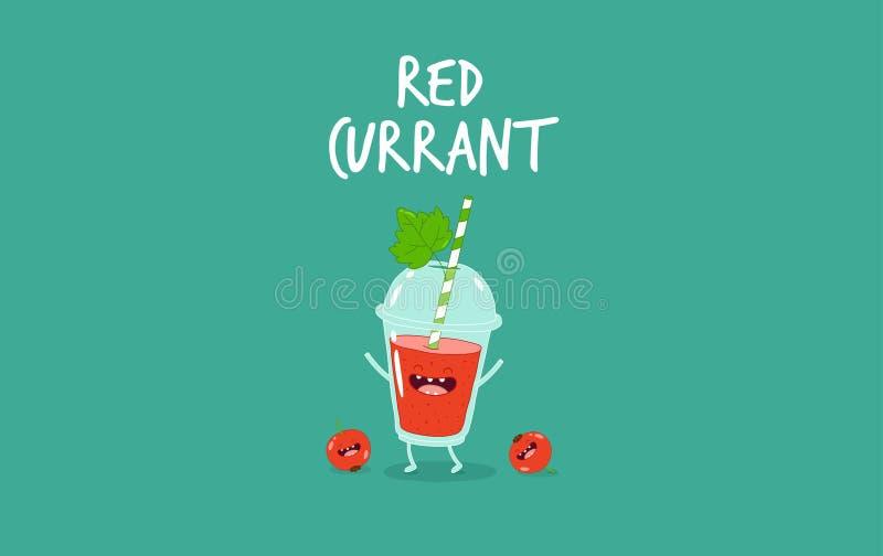 Smoothie czerwony rodzynek royalty ilustracja