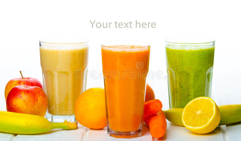 Smoothie day, time for healthy drink stock photos