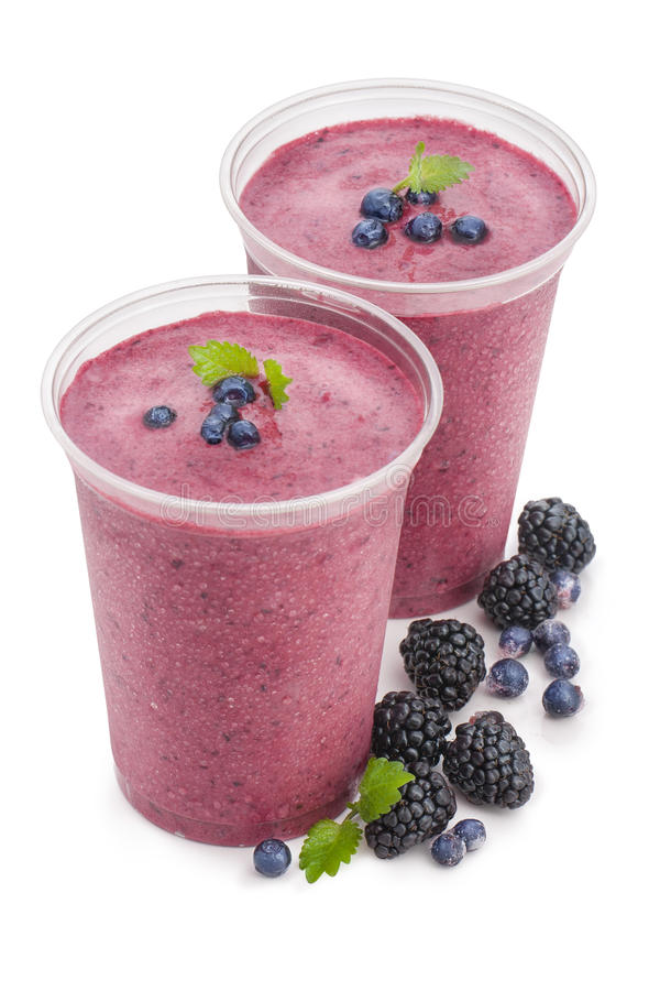 Smoothie de baie photos stock