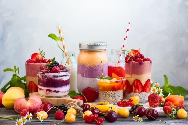 Smoothie de baie de fruit photo libre de droits