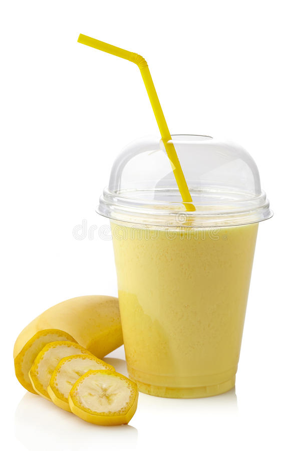 Smoothie de banane photo stock