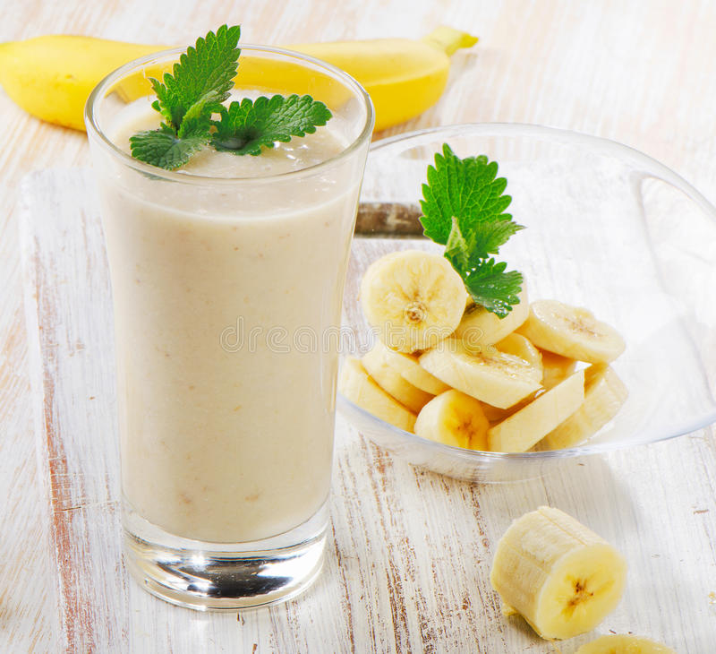 Smoothie de banane image libre de droits